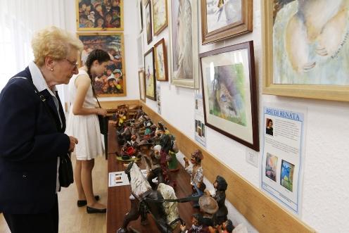 Ráckevei és szigetszentmiklósi művészek alkotásai a Vármegyeházán