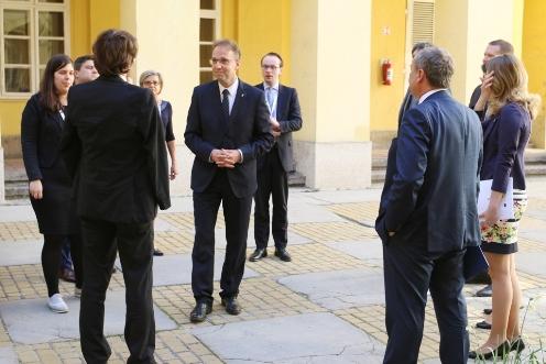 Visegrádi Csoport delegáció a kormányhivatalban