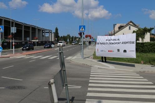 Megújult az M7 autópálya érdi, Iparos úti csomópontja